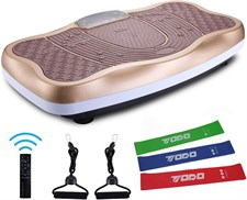 TODO Vibration Platform Power Plate Wholebody Vibrating Massager- Bluetooth Music/USB Connection/Adj