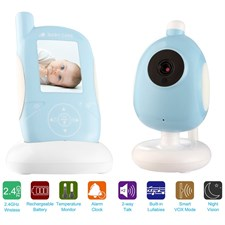 Digital Wireless Video Baby Monitor with 4 X Digital Zoom