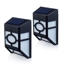 Xlux Solar Powered Wall Lights Pack Of 2 Warm White