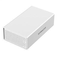 Aluminum Alloy 2 Bay Type-C Hard Drive Enclosure USB3.1 SATA 3.0 for 3.5 inch
