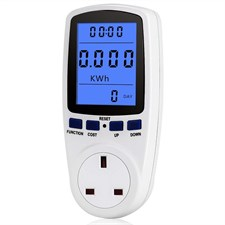 UK Plug Power Electricity Usage Meter