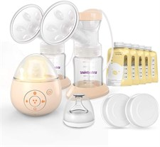 Yunbaby Electric Breast Pump Automatic with Massage and Music Function with 5 Milk Storage Bags  S19