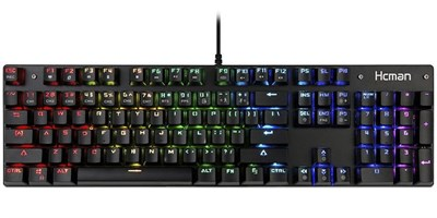 3ac40fd64ff Mechanical Keyboard Full RGB LED Backlit Gaming Keyboard - Blue Switches  100% Anti-ghosting