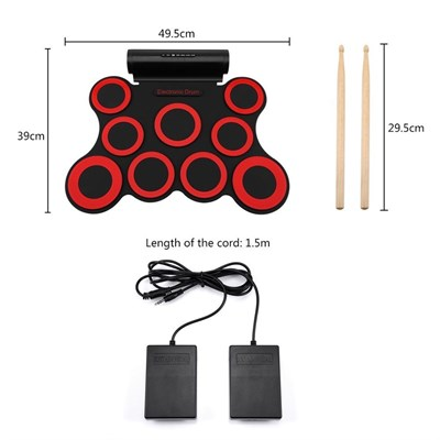 Musical Instruments - Digital Roll Up Portable Electronic Drum Kit